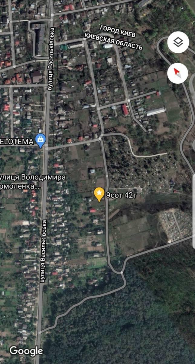 Продам 9 сот земли с. Новоселки ул. Боженко 0,5 км Киев Теремки рядом Феофания Гатное Чабаны